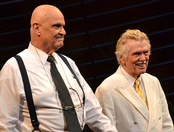 Fred Dalton Thompson and Tom Skerritt drink in the audience's applause.<br />(© David Gordon)