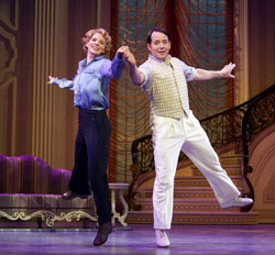 Kelli O'Hara and Matthew Broderick in <i>Nice Work If You Can Get It</i>